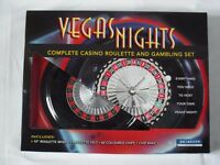 VEGAS NIGHTS complete casino roulette and gambling set. Host your own Vegas night!