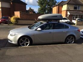 Vauxhall insignia, good condition. Not many miles done. Roof box included