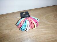 Girls Multi Colour Hair Elastic Bobbles 50 Pack 2 Different Sizes Brand New