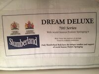Single beds with dream deluxe slumberland matresses and draws