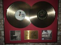 EMINEM double gold disc display