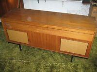 Vintage Decca turn table radio gram