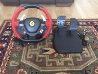 Thrustmaster Ferrari 458 Steering Wheel & Pedals for XBOX ONE