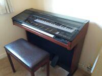 Yamaha Electone organ and stool