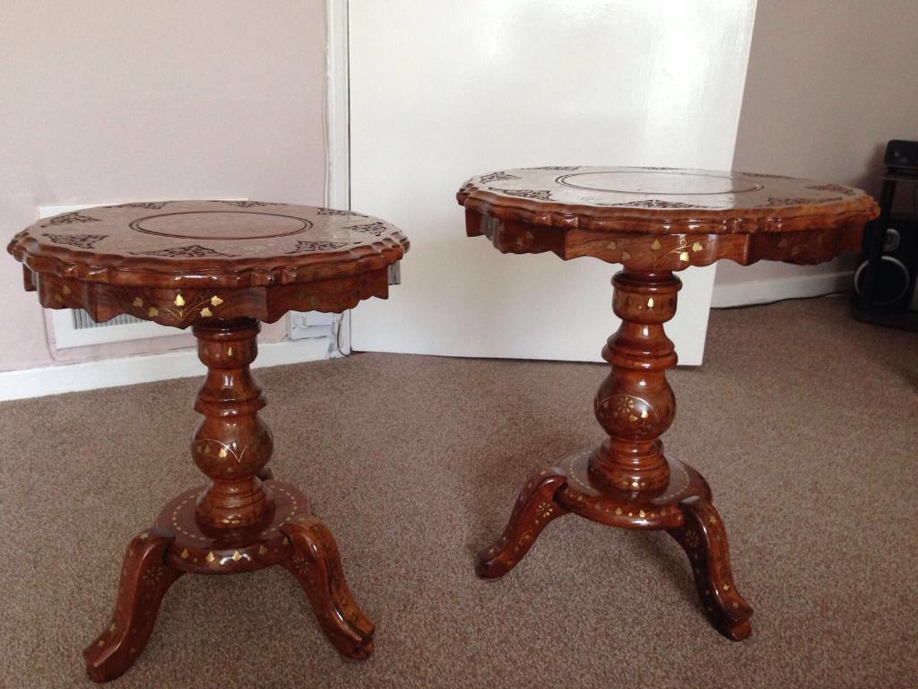 Occasional Tablesin Syston, LeicestershireGumtree - For Sale two beautiful hand crafted occasional tables with carved and mosaic tops. Perfect condition