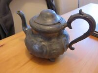 antique 'Walker and Hall' silver plated teapot