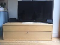 TV Cabinet - Birch - One large drawer