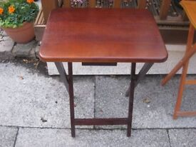 small wooden side table collapsible good condition