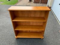 Small solid pine bookcase