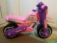 Kids pink balance bike