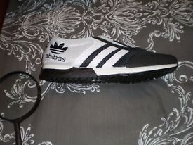 abibas trainers size 6 arrived today brand new ordered 8 too much trouble returning