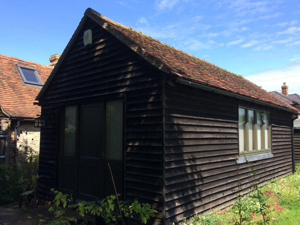 a timber clad office garage workshop store for sale in aylesbury