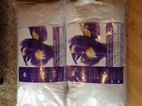 2 Canadian Hutterite white goose down pillows