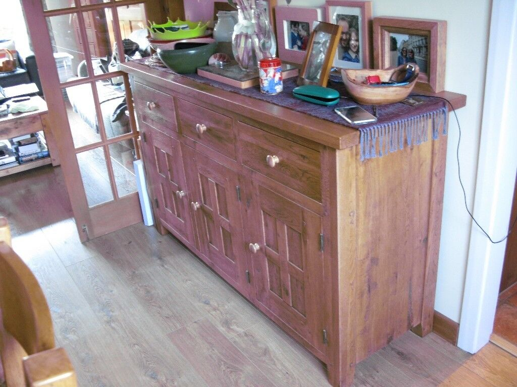 Oak sideboard halo brand distressed wood