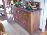 Oak sideboard. Halo brand - distressed wood.