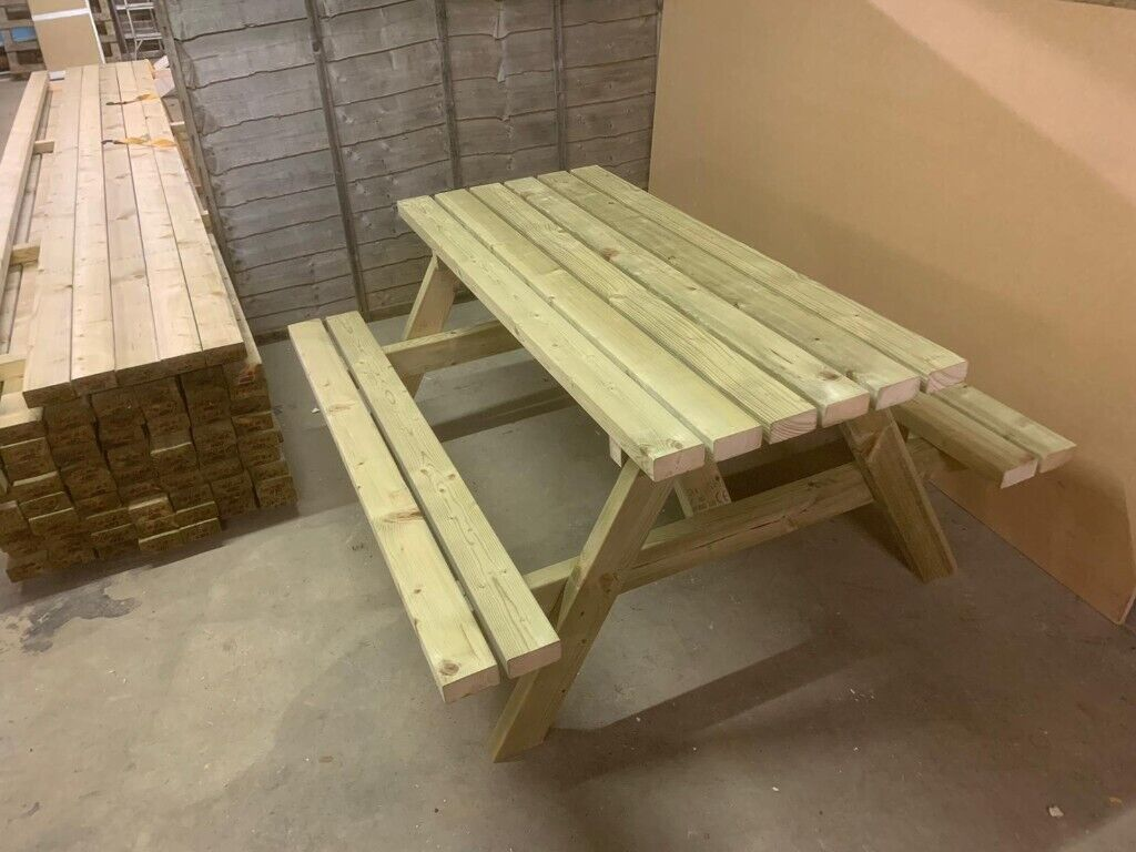 Picnic Table Garden Tables Pressure Treated 4ft Free