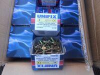 wood screw unifix 5x60mm 100 wood screws per box brand new