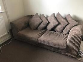 BEIGE LARGE 2 & 2 SEATER SOFA