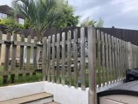 Wood fence, posts and gates