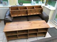 Shoe rack/bench and matching wooden coat rack SOLD!!!!