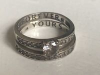 Silver Duo Forever Yours Ring