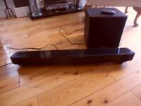 yamaha yas-201 soundbar with subwoofer wireless/remote control as new black from richer sounds