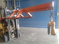 Forklift Extension + Aardwolf Lifter 50 Clamp for Granite Worktops / Slabs