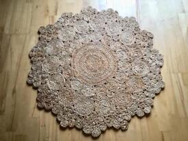Handmade Jute round rug