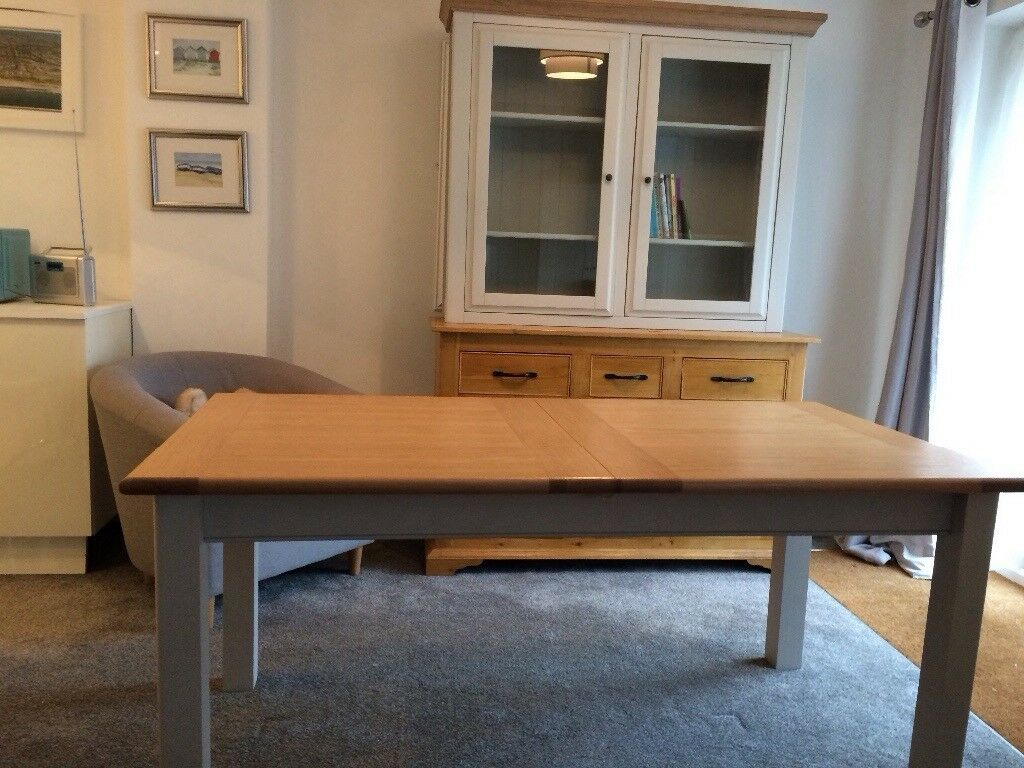 Solid Oak Sideboard Dresser Display Modern Dining Table To Match