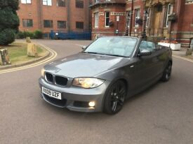 2009 BMW 123D TWIN TURBO M SPORT CONVERTIBLE AUTOMATIC FSH LOW MILEAGE SAT NAV not 120d 135i