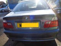 BREAKING --- BMW 318i SE 1.9L Petrol --- Paint Stahlblau Metallic -----2000