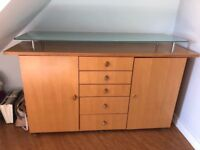 Side cabinet and television unit. Great quality furniture with lots of storage.