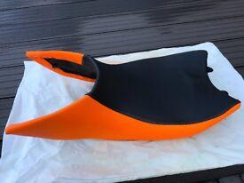 KTM 1290 Superduke R Rider Seat with Orange Leather Cover