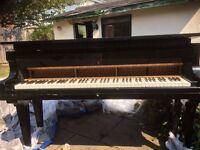 Baby grand Piano High Black Gloss Antique offers invited