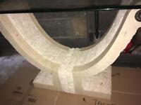 Stone base side table