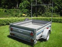 TRELGO GALVANISED TIPPING TRAILER (quite large). Good, sturdy trailer - £450 (Whiddon Down area)