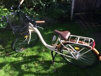 City Bike with Front Basket & Pannier Rack - Ridden Once AS NEW Professionally Assembled and Tested