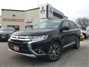 2016 Mitsubishi Outlander GT 0.9% (LEATHER, NAV, ROCKFORD)
