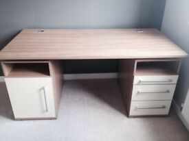 Large desk with cream front