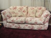 Marks and Spencer Floral 2/3 seater sofa and footstool