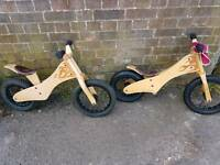 EARLY RIDER WOODEN BALANCE BIKES.