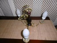 3 ARM TRADITIONAL CLASSIC CEILING LIGHT FITTING GOLD COLOR CHANDELIER