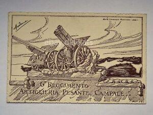 ARTIGLIERIA-6-Reggimento-PESANTE-CAMPALE-vecchia-cartolina