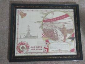 Silk screen style WWI picture.