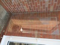 FREE Glass sheets x3 ...ex shower doors ... ideal for cold frame(s)