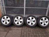 """16"""" Inch Vauxhall alloy wheels with tyres"""