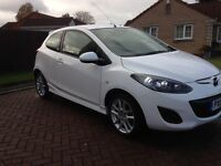 MAZDA 2 1.3 PETROL 3DR WHITE LOW MILAGE EXCELLENT CONDITION