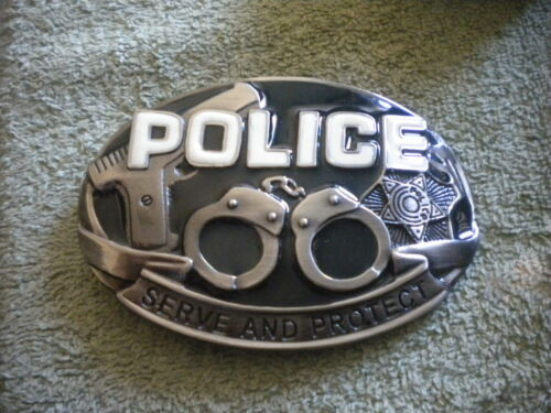 POLICE SERVE AND PROTECT Belt Buckle