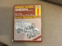 Freight Rover Sherpa Haynes Manual