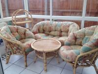 Conservatory sofa, chairs, table and plant stand set